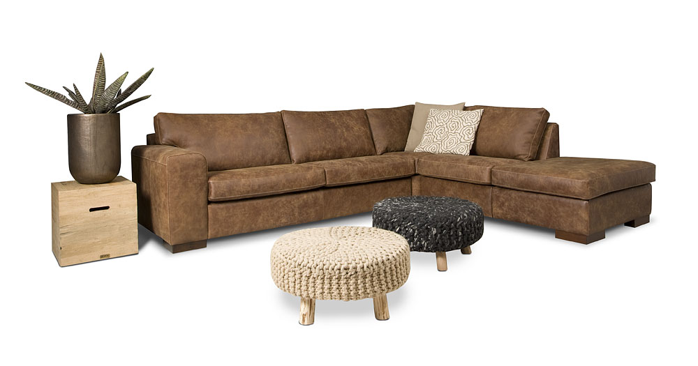robustes maringa ecksofa von het anker in afrika leder. Black Bedroom Furniture Sets. Home Design Ideas